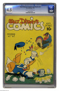 Walt Disney's Comics and Stories #2 (Dell, 1942) CGC VG+ 4.5 Cream to off-white pages. While we've got just about everyt...