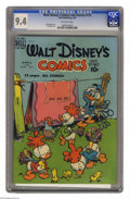 Golden Age (1938-1955):Funny Animal, Walt Disney's Comics and Stories #115 (Dell, 1950) CGC NM 9.4Off-white pages. Walt Kelly cover. Paul Murry art. Overstreet ...