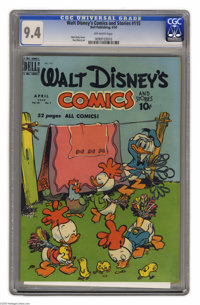 Walt Disney's Comics and Stories #115 (Dell, 1950) CGC NM 9.4 Off-white pages. Walt Kelly cover. Paul Murry art. Overstr...