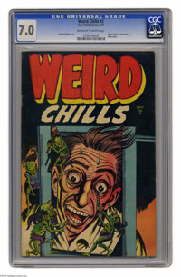 Weird Chills #2 (Key Publications, 1954) CGC FN/VF 7.0 Off-white to white pages. If you ever needed an illustration of t...