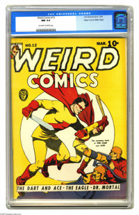 Weird Comics #12 Mile High pedigree (Fox Features Syndicate, 1941) CGC NM 9.4 Off-white to white pages. Those legendary...