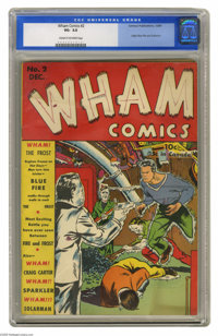 Wham Comics #2 (Centaur, 1940) CGC VG- 3.5 Cream to off-white pages. Origins of Blue Fire and Solarman. Overstreet 2005...