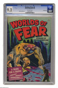 Golden Age (1938-1955):Horror, Worlds of Fear #6 Crowley pedigree (Fawcett, 1952) CGC NM- 9.2Off-white pages. On this cover by veteran artist Sheldon Mold...