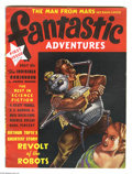 """Pulps:Science Fiction, Fantastic Adventures May 1939 (Ziff-Davis, 1939) Condition: FN+. This bedsheet format (8.5"""" x 11.25"""") pulp features a painte..."""