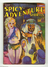 """Spicy Adventure Stories V2#4 (Culture, 1935) Condition: VG. H. J. Ward's incredible """"white slave in bondage"""" c..."""