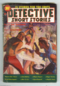 """Pulps:Miscellaneous, Detective Short Stories V1#3 (Red Circle, 1938) Condition: VG/FN. A wild """"nude blond in bondage"""" cover will grab your eye wi..."""