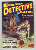 """Pulps:Miscellaneous, Dime Detective Magazine V4#2 (Popular, 1932) Condition: VG+. An exceptional copy of a scarce pulp; with a cool """"shrunken hea..."""