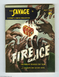 Doc Savage V27#5 (Street and Smith, 1946) Condition: VF/NM. This newsstand-fresh digest appears to have never been opene...
