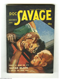 Pulps:Miscellaneous, Doc Savage V24#3 (Street and Smith, 1944) Condition: VF. Doc takes matters into his own hands in this colorful Modest Stein ...