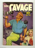 Pulps:Miscellaneous, Doc Savage V17#5 (Street and Smith, 1941) Condition: FN/VF. Doc is up to his sinewy neck in trouble on this colorful Emery C...