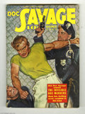 """Pulps:Miscellaneous, Doc Savage V18#3 (Street and Smith, 1941) Condition: FN+. Doc fights the law -- will the law win? Featured cover story is """"T..."""