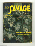 Pulps:Miscellaneous, Doc Savage V24#6 (Street and Smith, 1945) Condition: FN. This issue features a bizarre Modest Stein cover full of submerged ...