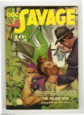 Pulps:Miscellaneous, Doc Savage V17#2 (Street and Smith, 1941) Condition: FN-. Looks like Doc has planted himself right in the middle of another ...
