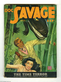 Pulps:Miscellaneous, Doc Savage V20#5 (Street and Smith, 1943) Condition: VG/FN. Doc anda beautiful brunette encounter a dinosaur in this cool E...