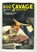 Pulps:Miscellaneous, Doc Savage V8#3 (No Publisher, 0) Condition: VG. Doc injects a hypo into an ancient Egyptian on this cover, illustrating the...