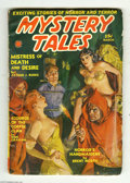 Pulps:Miscellaneous, Mystery Tales V3#4 (Red Circle, 1940) Condition: VG. Incredible J. W. Scott cover depicts a lovely young lass being threaten...