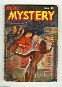 Real Mystery Magazine V1#1 (Red Circle) Condition: VG. This great bondage cover by J. W. Scott depicts a topless woman s...