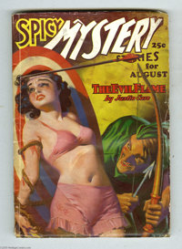 Spicy Mystery Stories V3#4 (Culture, 1936) Condition: VG. A bull's eye bondage cover by H. J. Ward assures you this is i...
