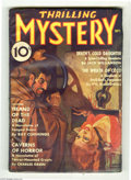 """Pulps:Miscellaneous, Thrilling Mystery V4#2 (Beacon, 1936). A nice """"bloody"""" bondage cover by Rudolph Belarski kicks off this attractive copy. Sto..."""