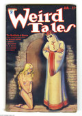 Pulps:Horror, Weird Tales (Pulp) Jan 1934 (Popular Fiction, 1934) Condition: Apparent FN. This tantalizing pulp features a classic cover b...