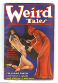 Pulps:Horror, Weird Tales (Pulp) March 1936 (Popular Fiction, 1936) Condition: Apparent VG/FN. A hooded sadist in red whips a shackled blo...