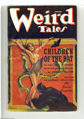 Golden Age (1938-1955):Horror, Weird Tales (Pulp) Jan 1937 (Popular Fiction, 1937) Condition: Apparent VG. An eerie topless bondage cover by Margaret Brund...