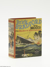Big Little Book #1468 Brick Bradford with Brocco the Modern Buccaneer (Whitman, 1938) Condition: VF-. Hard cover, 432 pa...