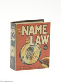 """Golden Age (1938-1955):Miscellaneous, Big Little Book #1155 In the Name of the Law (Whitman, 1937) Condition: VF/NM. Hard cover, 432 pages. Standard size 3.625"""" x..."""
