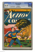 Golden Age (1938-1955):Superhero, Action Comics #27 (DC, 1940) CGC FN 6.0 Off-white pages. Superman versus a lion is hardly a fair fight on this cover by Paul...