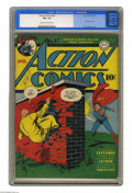 Golden Age (1938-1955):Superhero, Action Comics #47 (DC, 1942) CGC FN+ 6.5 Cream to off-white pages. This is Lex Luthor's first cover appearance in any title!...