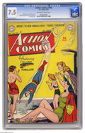 """Golden Age (1938-1955):Superhero, Action Comics #136 (DC, 1949) CGC VF- 7.5 Off-white to white pages. A Superman """"good girl"""" cover? This Al Plastino effort is..."""