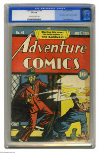 Adventure Comics #40 (DC, 1939) CGC VG 4.0 Cream to off-white pages. This amazing cover by Creig Flessel introduced the...