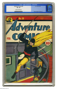 Adventure Comics #59 (DC, 1941) CGC VG- 3.5 Cream to off-white pages. Bernard Baily cover featuring Hourman. Sandman and...