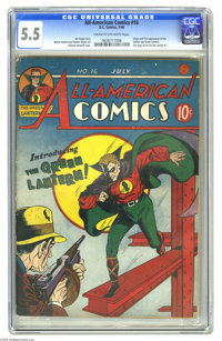 All-American Comics #16 (DC, 1940) CGC FN- 5.5 Cream to off-white pages. One of the five most valuable comics of all, an...