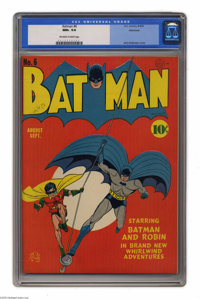 Batman #6 Allentown pedigree (DC, 1941) CGC NM+ 9.6 Off-white to white pages. If you wonder why people make such a fuss...