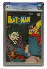Batman #23 (DC, 1944) CGC VF+ 8.5 Off-white to white pages. This issue's Dick Sprang cover is a perennial favorite, as i...