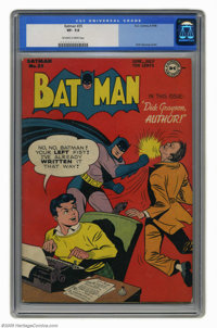 Batman #35 (DC, 1946) CGC VF- 7.5 Off-white to white pages. Catwoman returns in this story and shows her new costume for...