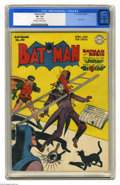 Golden Age (1938-1955):Superhero, Batman #40 (DC, 1947) CGC VF- 7.5 Off-white to white pages. A comical Joker cover is the highlight of this issue, which sees...