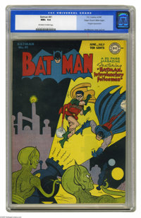Batman #41 Mile High pedigree (DC, 1947) CGC NM+ 9.6 Off-white to white pages. What Batman fan wouldn't love this one? F...