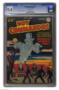 Golden Age (1938-1955):War, Boy Commandos #16 (DC, 1946) CGC NM 9.4 Off-white pages. After a successful start on Detective Comics, Simon and Kirby's...