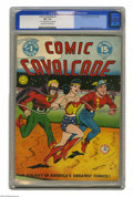 Golden Age (1938-1955):Superhero, Comic Cavalcade #1 (DC, 1942) CGC VG- 3.5 Off-white to white pages. This whopping 96-pager was headlined (as were all the ea...