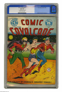 Comic Cavalcade #1 (DC, 1942) CGC VG- 3.5 Off-white to white pages. This whopping 96-pager was headlined (as were all th...