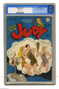Date With Judy, A #3 Mile High pedigree (DC, 1948) CGC NM+ 9.6 Off-white to white pages. Teen character Judy Foster was...