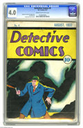 Platinum Age (1897-1937):Miscellaneous, Detective Comics #6 (DC, 1937) CGC VG 4.0 Cream to off-white pages.Hailing from the very dawn of DC, here's the sixth issue...