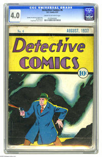 Detective Comics #6 (DC, 1937) CGC VG 4.0 Cream to off-white pages. Hailing from the very dawn of DC, here's the sixth i...