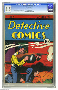 Detective Comics #7 (DC, 1937) CGC FN- 5.5 Cream to off-white pages. Considering that it's from the Platinum Age, this m...