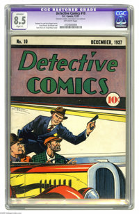 Detective Comics #10 (DC, 1937) CGC Apparent VF+ 8.5 Slight (P) Off-white pages. We're pleased to offer one-stop shoppin...