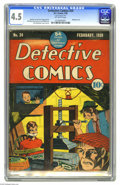 Golden Age (1938-1955):Adventure, Detective Comics #24 (DC, 1939) CGC VG+ 4.5 Off-white pages. Just try and find another copy of this issue -- we dare ya!...