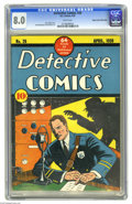 Golden Age (1938-1955):Adventure, Detective Comics #26 Mile High pedigree (DC, 1939) CGC VF 8.0 White pages. This is one of the few Detective issues that ...