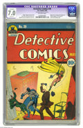 Golden Age (1938-1955):Superhero, Detective Comics #39 (DC, 1940) CGC Apparent FN/VF 7.0 Slight (P) Off-white pages. Robin first appeared in the issue precedi...